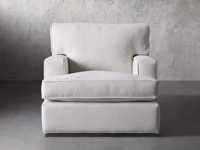 """Dune Upholstered 39"""" Swivel Chair in Vertual Snow"""