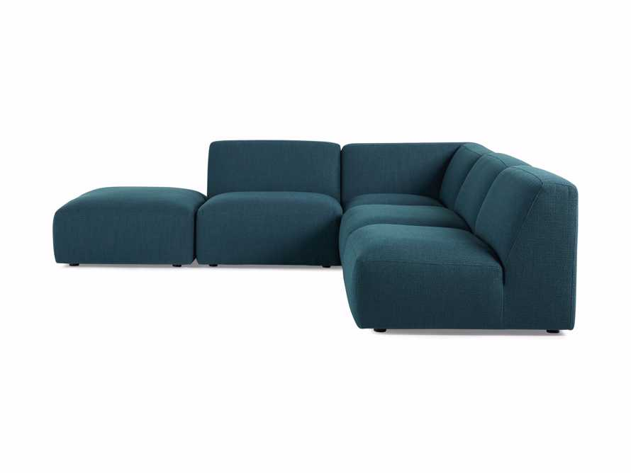 Cooper Upholstered Five Piece Sectional in Moto Juniper