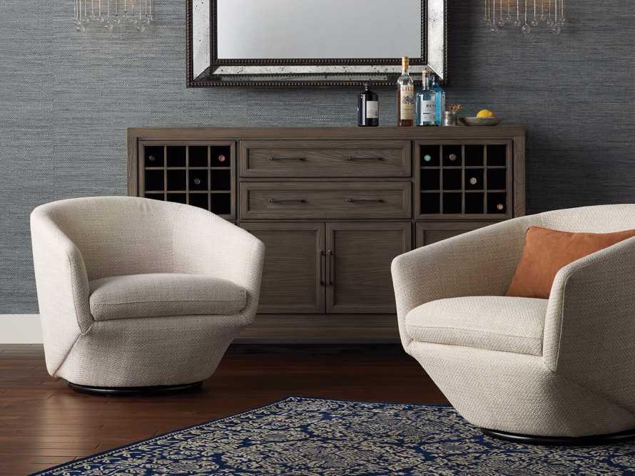 """Pelton Upholstered 31"""" Swivel Chair, slide 1 of 11"""