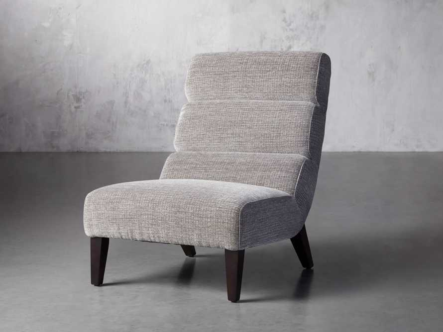 "Eldon Upholstered 29"" Armless Chair in Shayna Nature, slide 2 of 6"