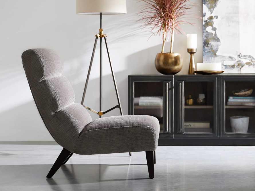 "Eldon Upholstered 29"" Armless Chair in Shayna Nature, slide 6 of 7"