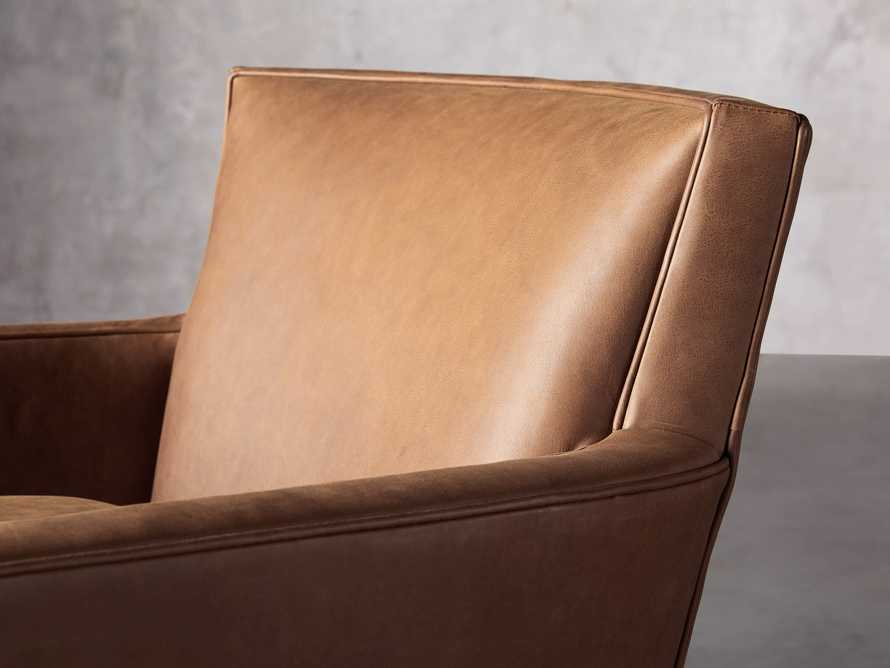 """Rudy Leather 31"""" Swivel Chair in Lukas Pecan, slide 6 of 9"""