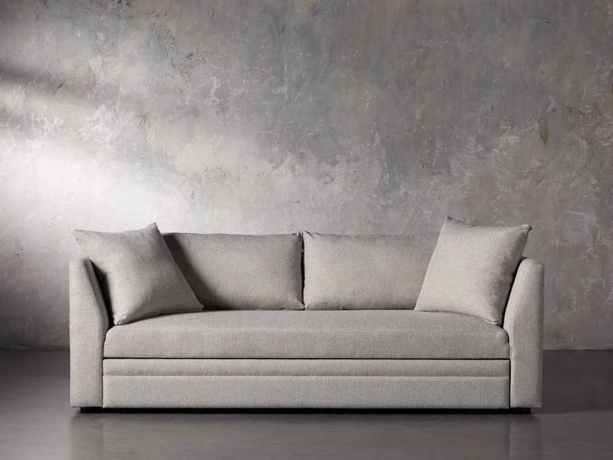 "Pavo Upholstered 93"" Queen Trundle Sofa, slide 1 of 12"