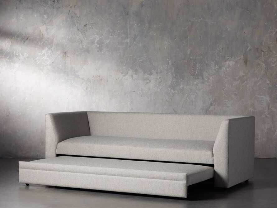 "Pavo Upholstered 93"" Queen Trundle Sofa, slide 3 of 12"