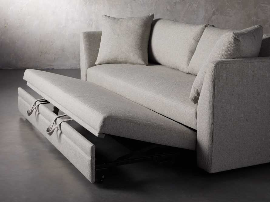 "Pavo Upholstered 93"" Queen Trundle Sofa, slide 9 of 12"