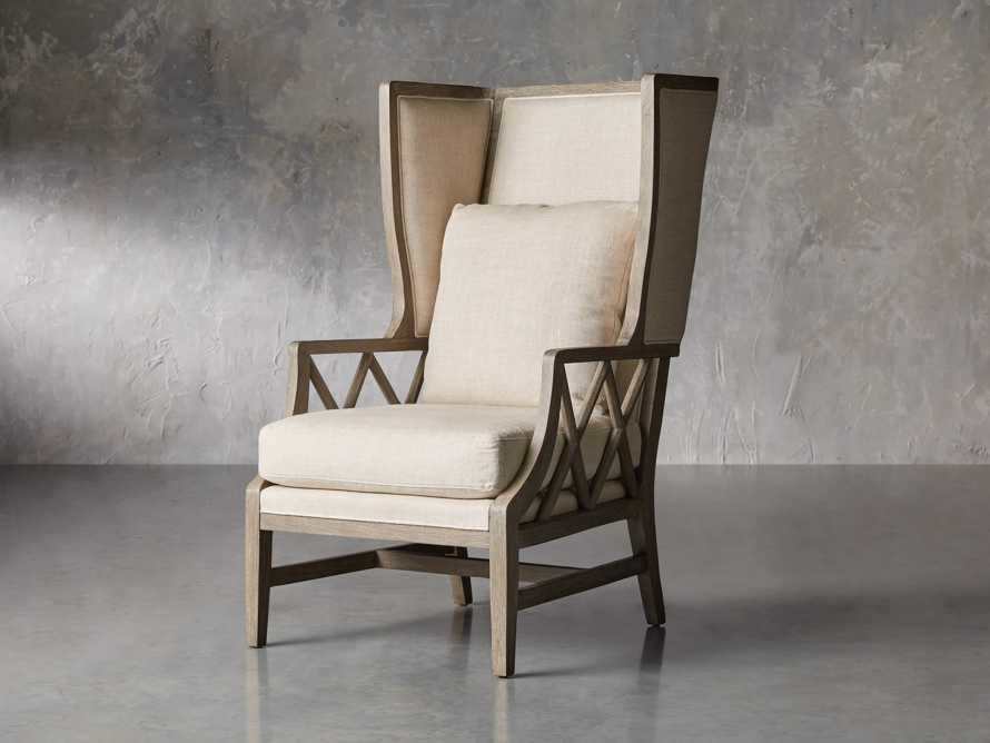 "Floria Upholstered 28"" Wing Chair in Flemish Grey"