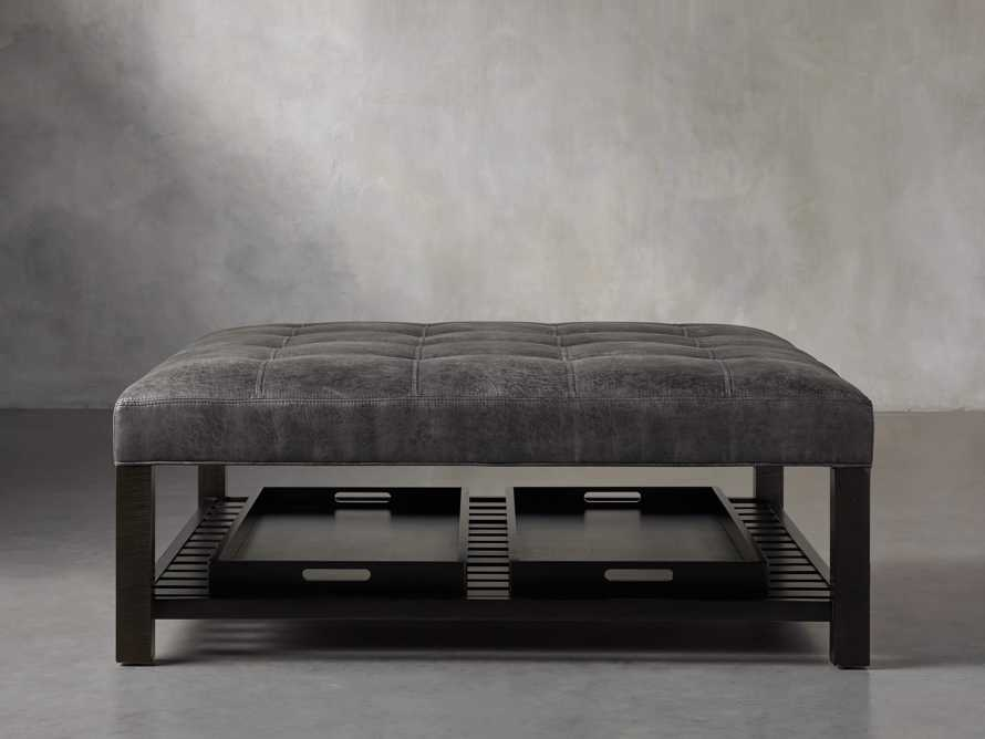 "Butler Biscuit Tufted 48"" Ottoman, slide 1 of 8"