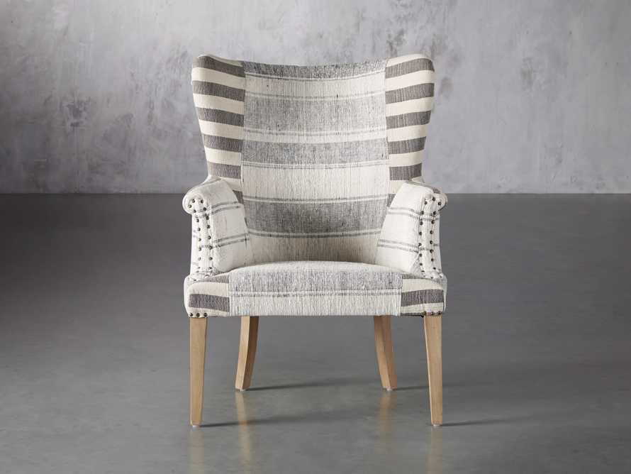 """Marlin Upholstered 28"""" Chair in Marlin Grey, slide 2 of 8"""