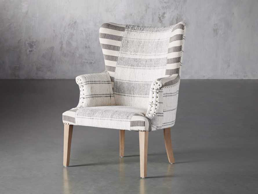 """Marlin Upholstered 28"""" Chair in Marlin Grey, slide 3 of 8"""