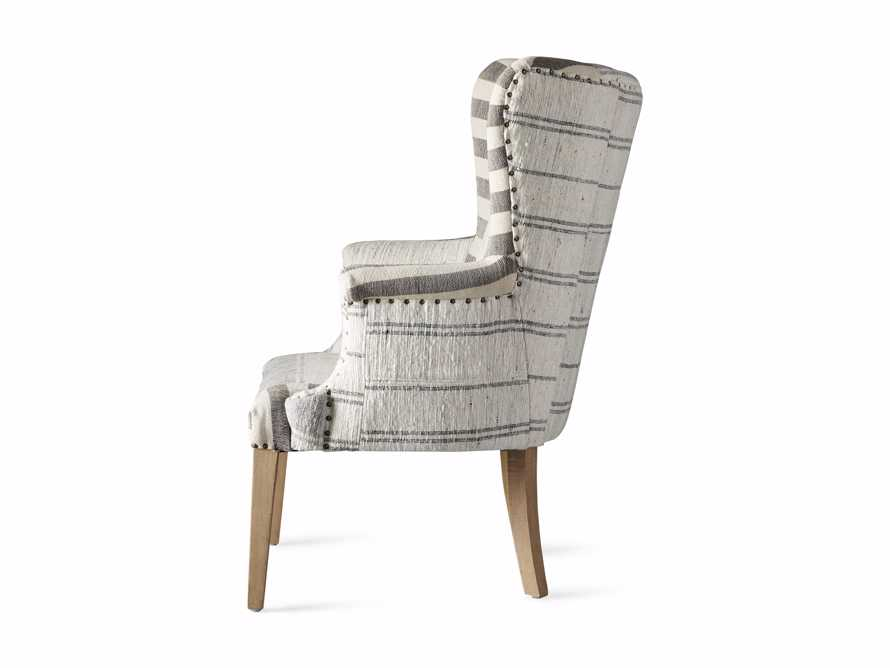 "Marlin Upholstered 28"" Chair in Marlin Grey, slide 8 of 8"