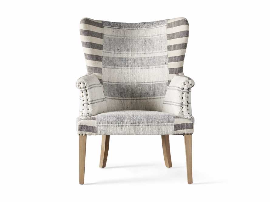 "Marlin Upholstered 28"" Chair in Marlin Grey, slide 7 of 8"