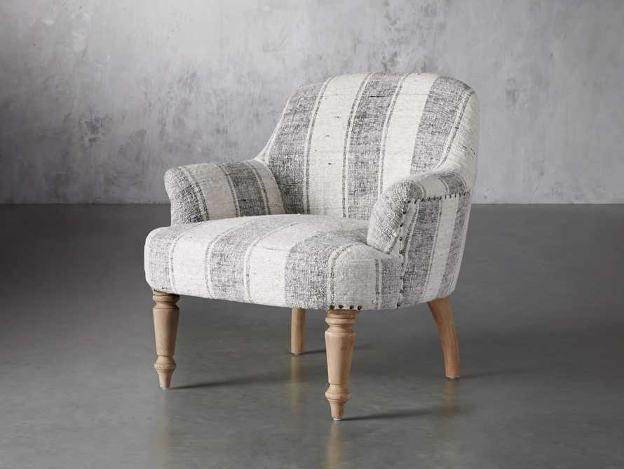 """Derry Upholstered 31"""" Chair in Derry Navy, slide 3 of 9"""