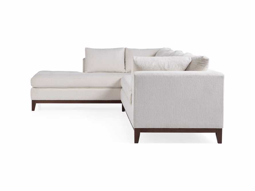 "Bryden Upholstered 129"" Left Arm Daybed Sectional"