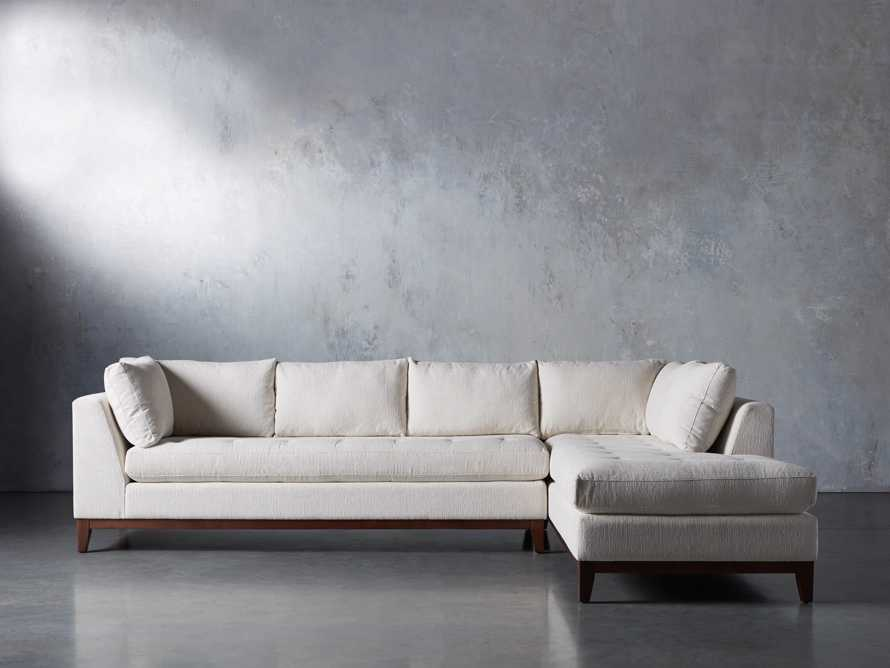"""Bryden Upholstered 129"""" Right Arm Daybed Sectional, slide 1 of 8"""