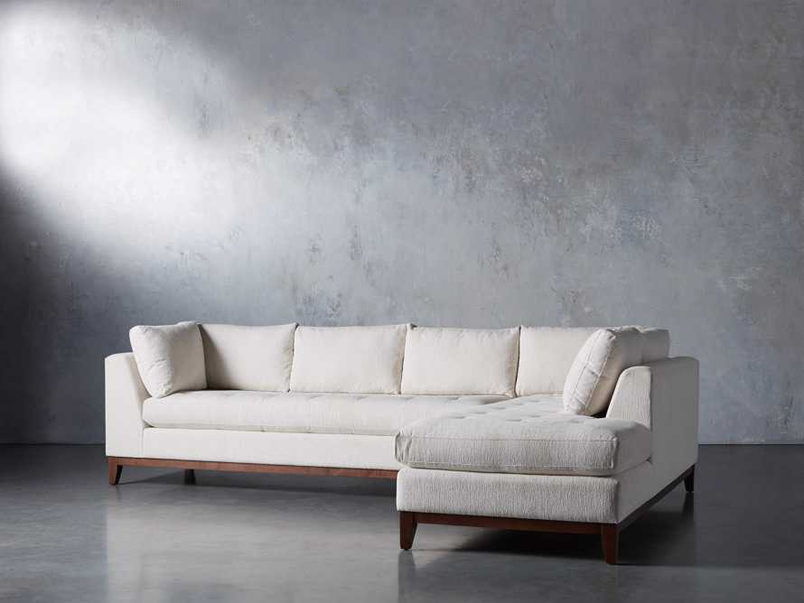 """Bryden Upholstered 129"""" Right Arm Daybed Sectional, slide 2 of 8"""