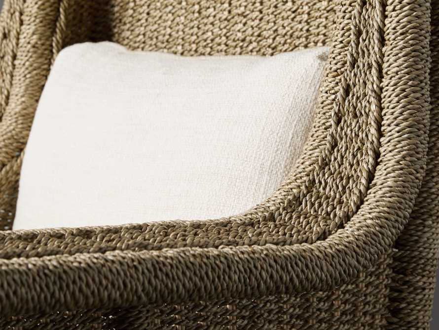 "Talia Upholstered 33"" Woven Chair in Tumble Ivory"