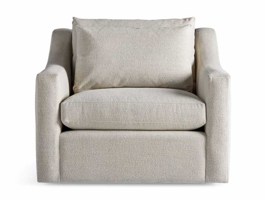 "Ashby Petite Upholstered 39"" Swivel Chair in Cushing Frost, slide 7 of 8"
