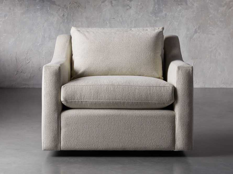 "Ashby Petite Upholstered 39"" Swivel Chair in Cushing Frost, slide 1 of 8"