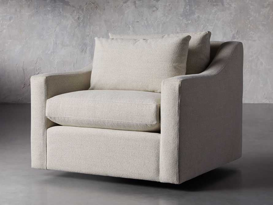 "Ashby Petite Upholstered 39"" Swivel Chair in Cushing Frost, slide 2 of 8"