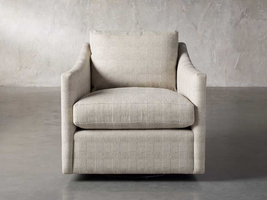 """Branson Upholstered 31"""" Swivel Chair, slide 1 of 10"""