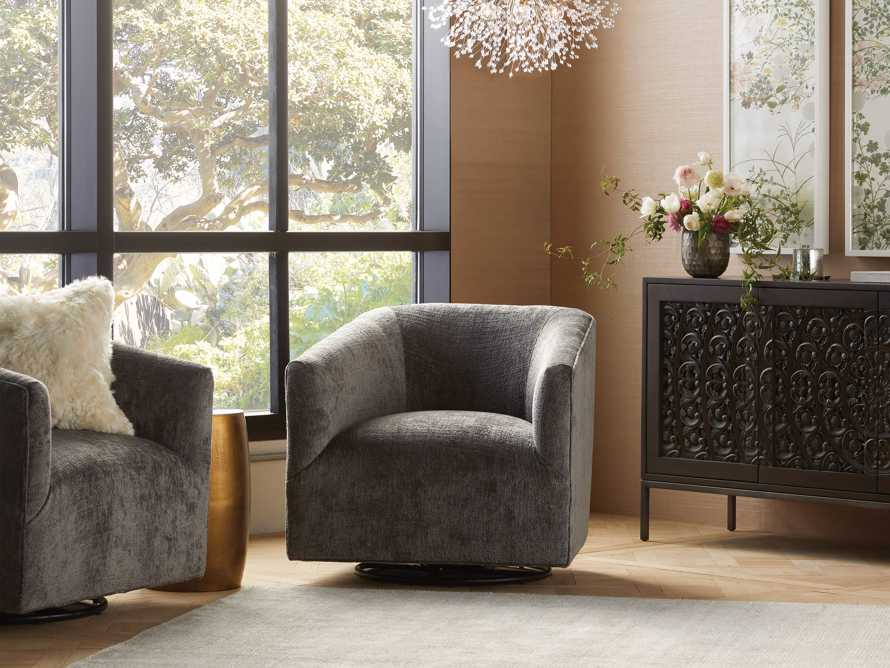 "Ellison Upholstered 31"" Swivel Glider, slide 1 of 11"