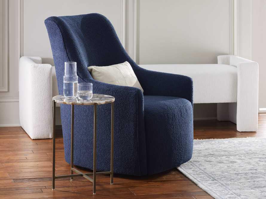 "Cole Upholstered 31"" Swivel Chair, slide 1 of 12"