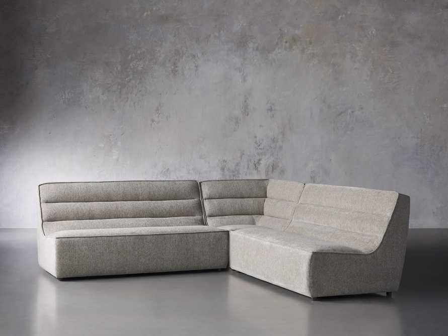 """Archer Upholstered 113"""" Three Piece Corner Sectional, slide 2 of 7"""