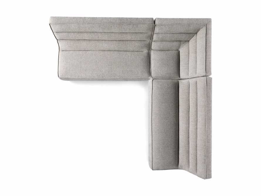 """Archer Upholstered 113"""" Three Piece Corner Sectional, slide 7 of 7"""