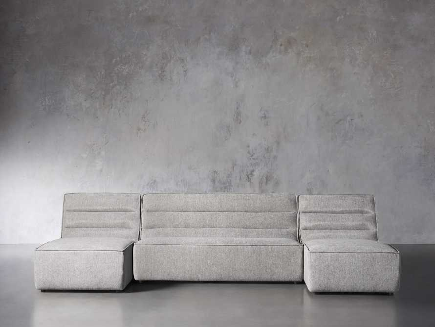 """Archer Upholstered 144"""" Three Piece Sectional, slide 1 of 7"""