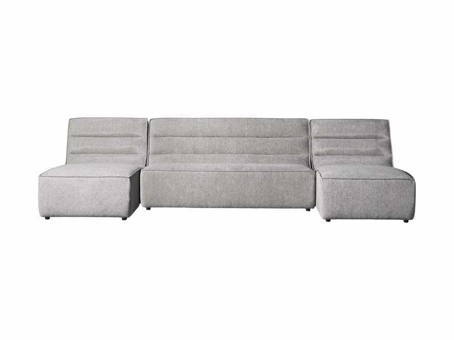 """Archer Upholstered 144"""" Three Piece Sectional, slide 6 of 7"""