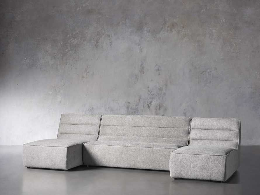 """Archer Upholstered 144"""" Three Piece Sectional, slide 2 of 7"""