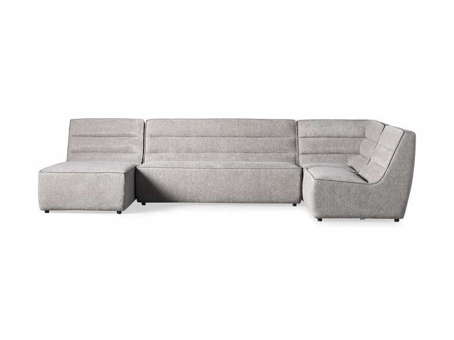 "Archer Upholstered 149"" Four Piece Sectional, slide 7 of 8"
