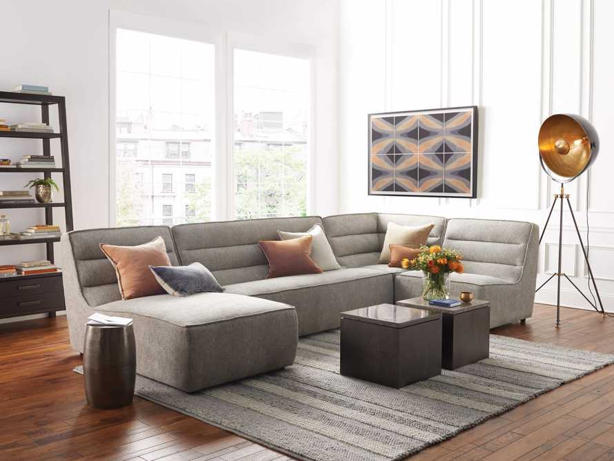 "Archer Upholstered 149"" Four Piece Sectional, slide 1 of 8"