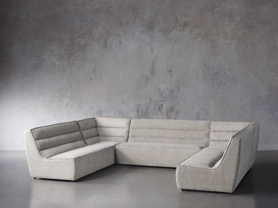 """Archer Upholstered 154"""" Five Piece Sectional, slide 2 of 7"""