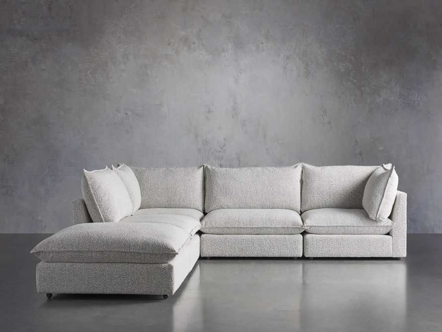 Owen Upholstered Five Piece Reverse Sectional, slide 2 of 9