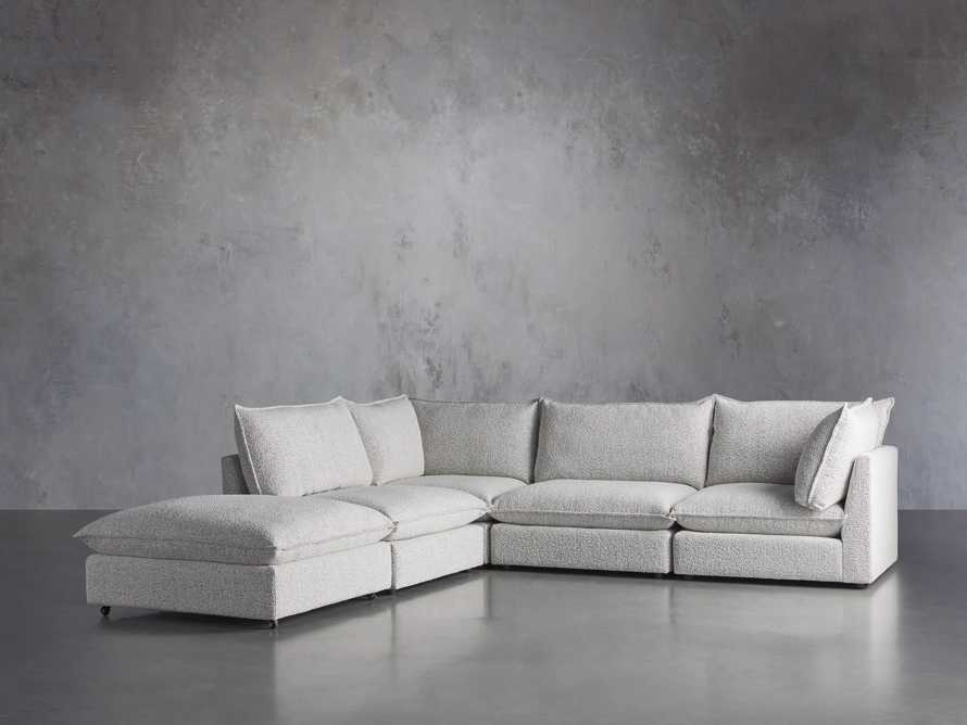 Owen Upholstered Five Piece Reverse Sectional, slide 3 of 9