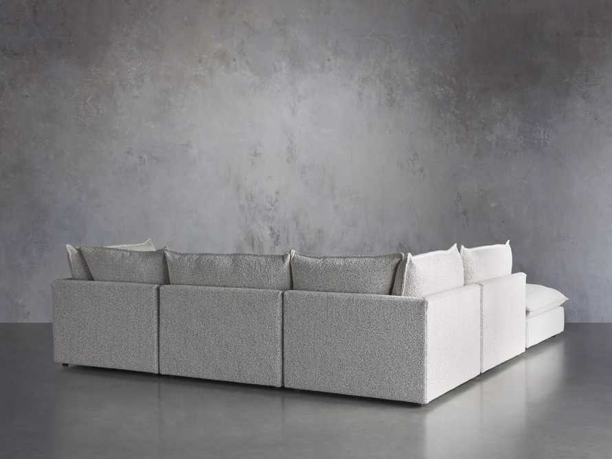 Owen Upholstered Five Piece Reverse Sectional, slide 4 of 9