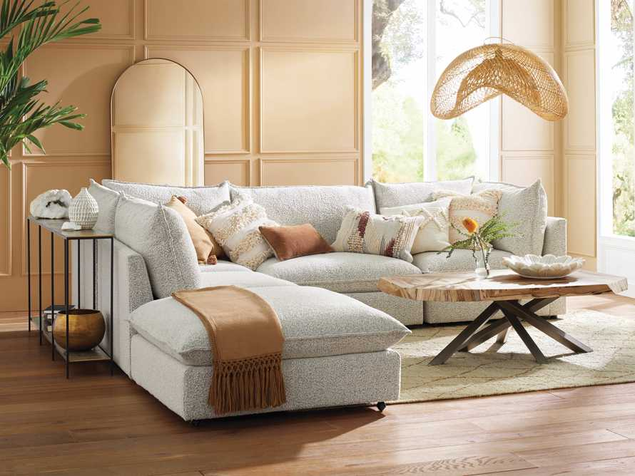 Owen Upholstered Five Piece Reverse Sectional, slide 1 of 9