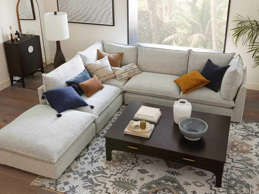 Owen Upholstered Five Piece Reverse Sectional, slide 8 of 9