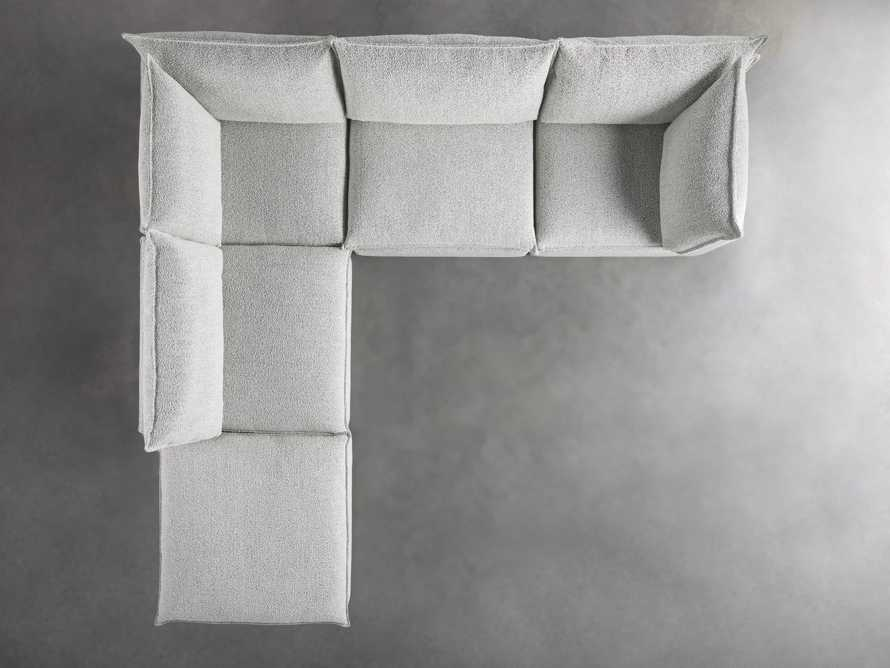 Owen Upholstered Five Piece Reverse Sectional, slide 5 of 9