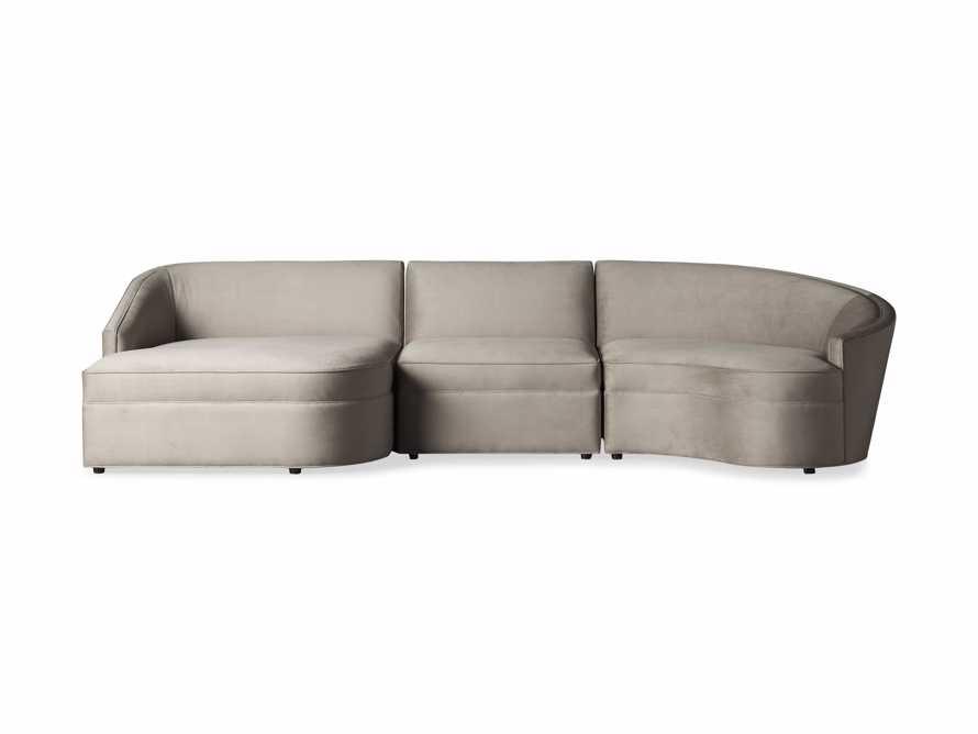 """Harper Upholstered 135"""" Curved Sectional, slide 9 of 10"""