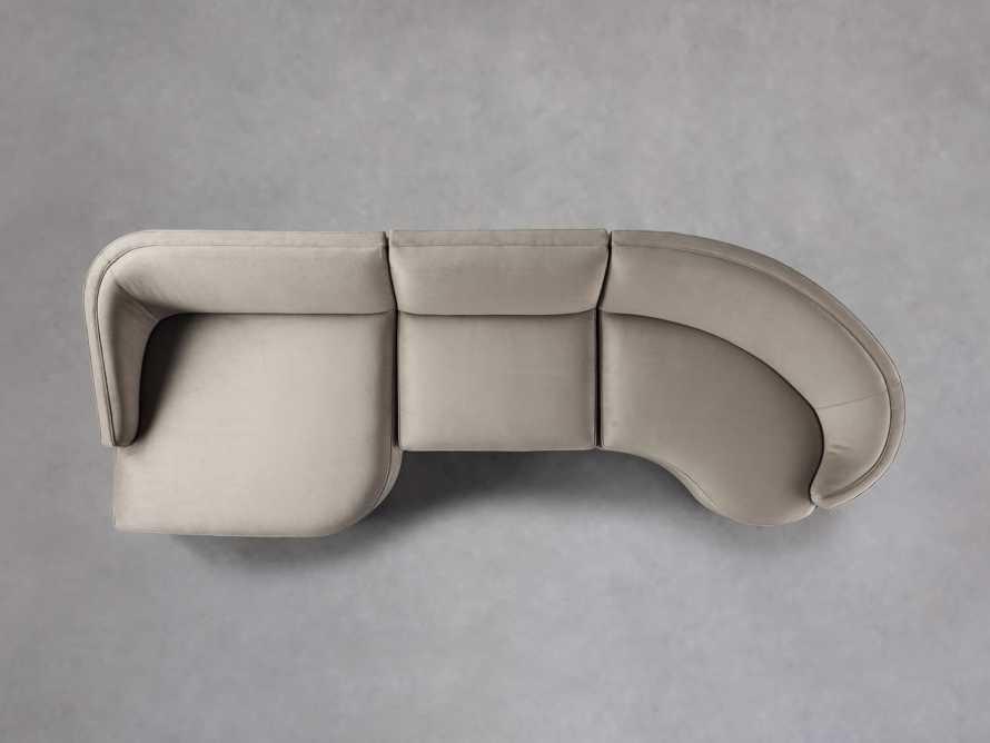 """Harper Upholstered 135"""" Curved Sectional, slide 5 of 10"""