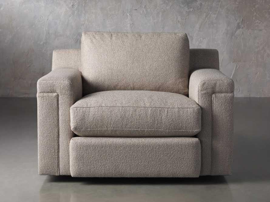 """Chandler Upholstered 46"""" Swivel Chair, slide 1 of 7"""