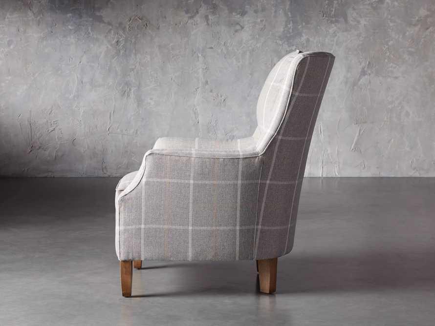 "Alex Upholstered 29"" Chair in Explorer Anchor, slide 4 of 9"