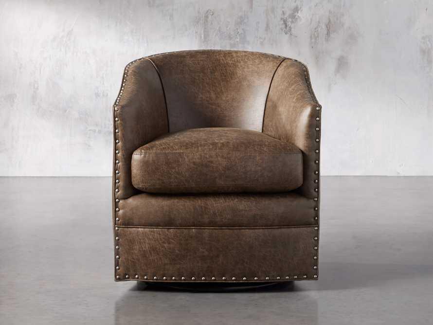 """Giles 28"""" Upholstered Swivel Chair, slide 1 of 8"""