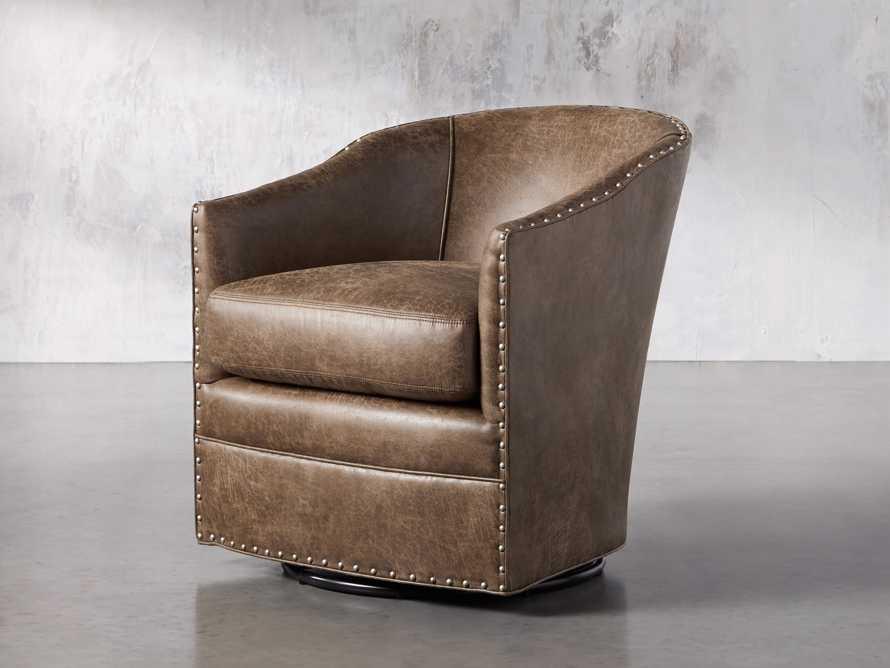 """Giles 28"""" Upholstered Swivel Chair, slide 2 of 8"""