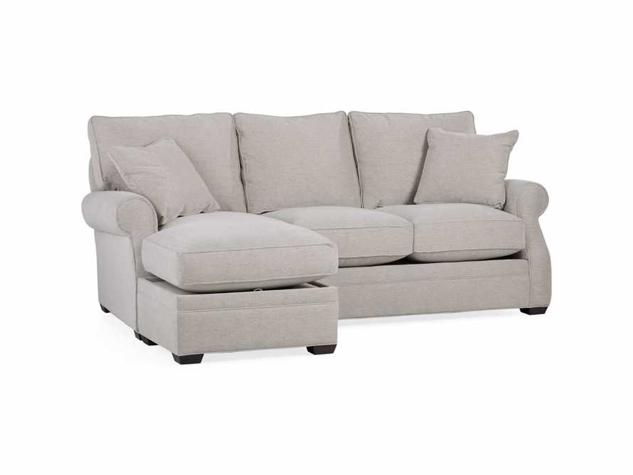 "Landsbury Upholstered 89"" Queen Std Sleeper Sofa (3/3) With Chaise) in Merritt Dove"
