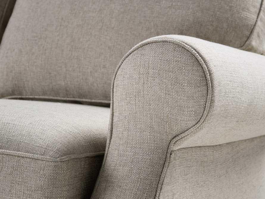 """Landsbury 89"""" Upholstered 3 Over 3 Sofa in Theater Gunsmoke, slide 5 of 5"""