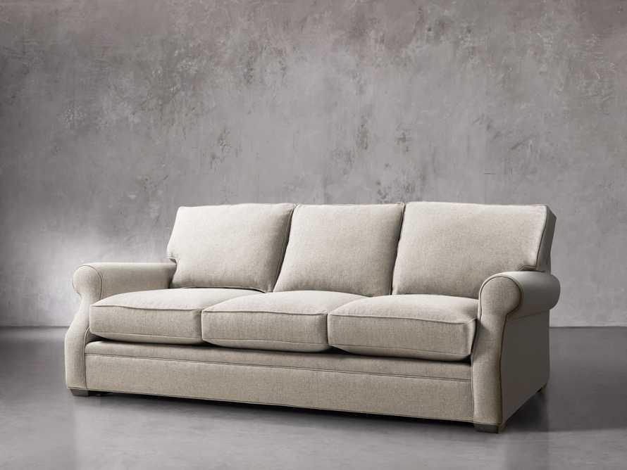 """Landsbury 89"""" Upholstered 3 Over 3 Sofa in Theater Gunsmoke, slide 2 of 5"""