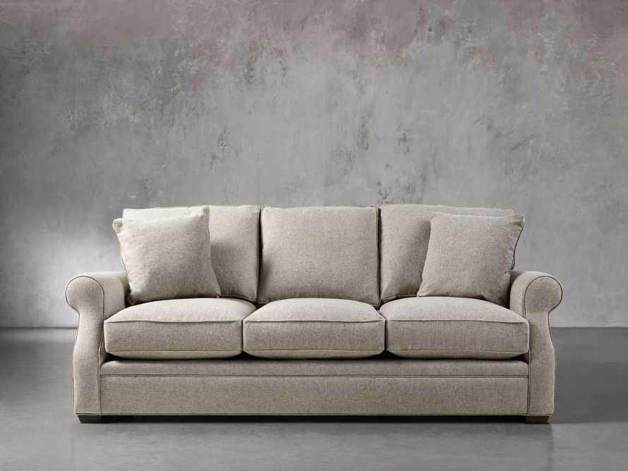 """Landsbury 89"""" Upholstered 3 Over 3 Sofa in Theater Gunsmoke, slide 1 of 5"""